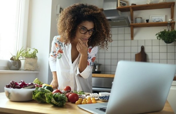 woman trying healthy recipes