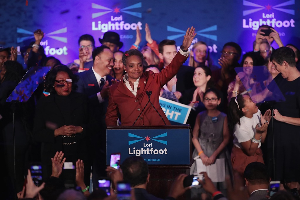 Lori Lightfoot will become the first black female mayor of the city and its first openly gay mayor.