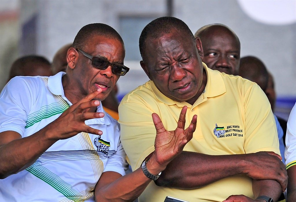 Cyril Ramaphosa and Ace Magashule. (Gallo Images)
