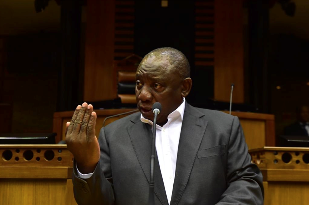 President Cyril Ramaphosa practising for the 2019