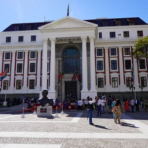 Army band preparing for SONA outside Parliament on Thursday. Zukile Daniel, News24)