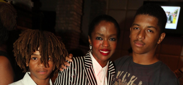 Lauryn Hill and her sons John Nesta Marley and Zi