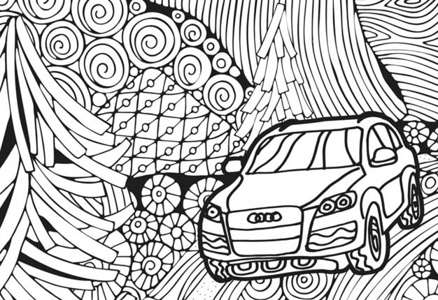 audi colouring book