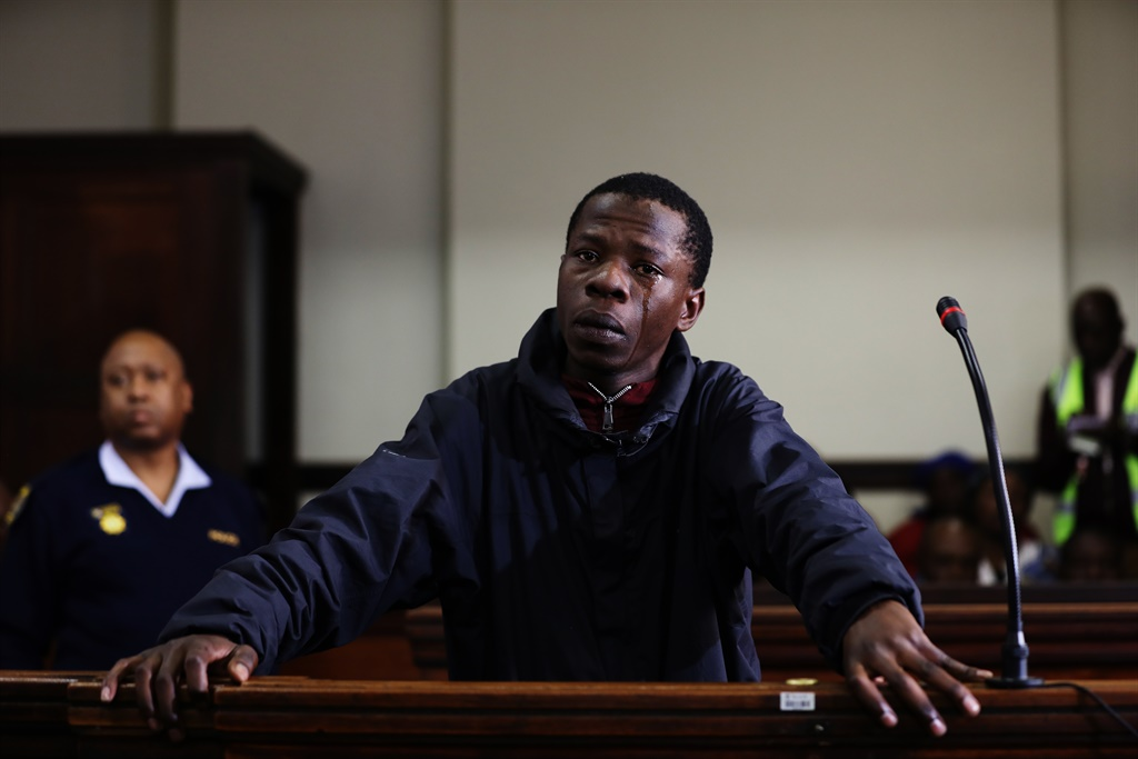 Forest High School murder suspect Mohammed Mwela, 19, at the Johannesburg Magistrate's Court where he was granted R5 000 bail. (Gallo Images/Sowetan/Mduduzi Ndzingi)