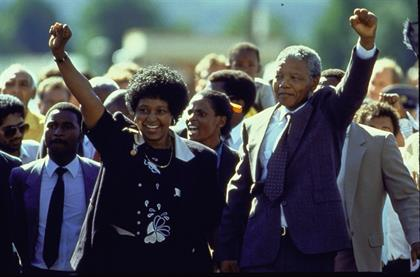Nelson Mandela with ANC President Oliver Reginald