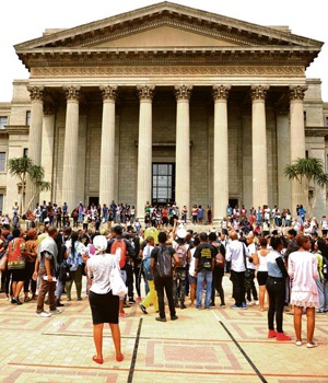 Wits University was brought a standstill after the announcement of an increase in tuition fees for the 2016 study year. (Elizabeth Sejake)