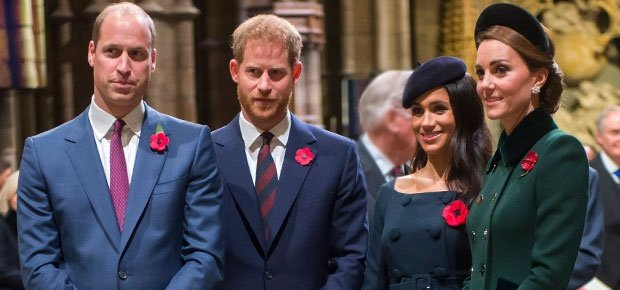Prince William, Prince Harry, Duchess Meghan and Duchess Kate (Photo: Getty Images)