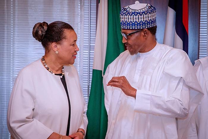 President Muhammadu Buhari and Commonwealth Secret
