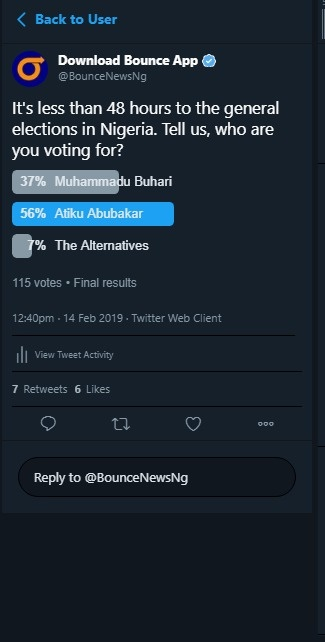 Result of Bounce News online poll
