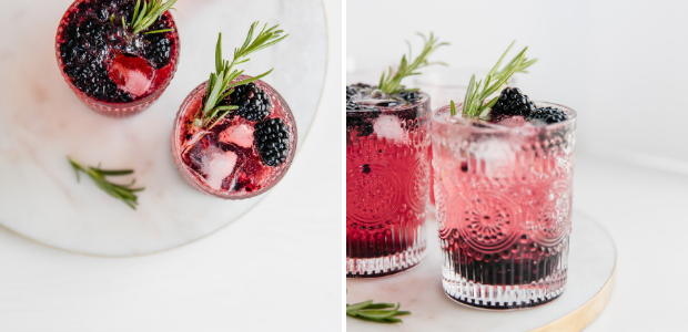 cocktail recipes, gin, blackberry