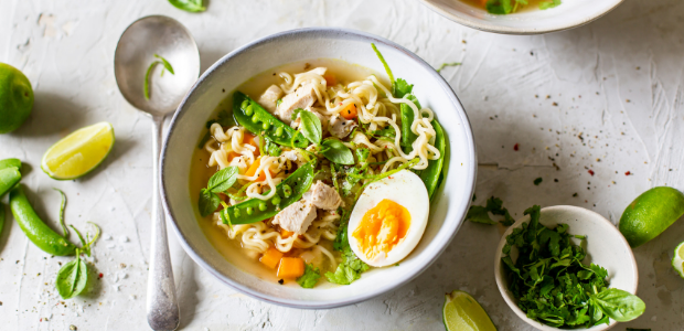 Gourmet chicken noodle soup
