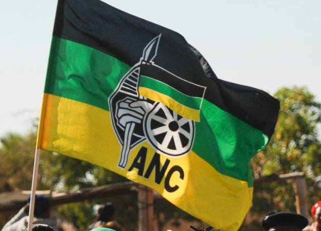 The ANC flag is photographed. (Thapelo Maphakela, Gallo Images, file)