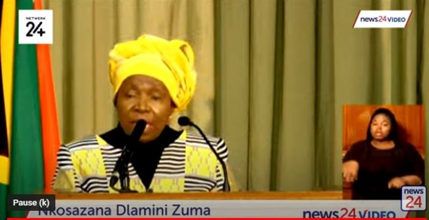 Dlamini-Zuma says the government is taking all these measures to ensure that the nation does not perish
