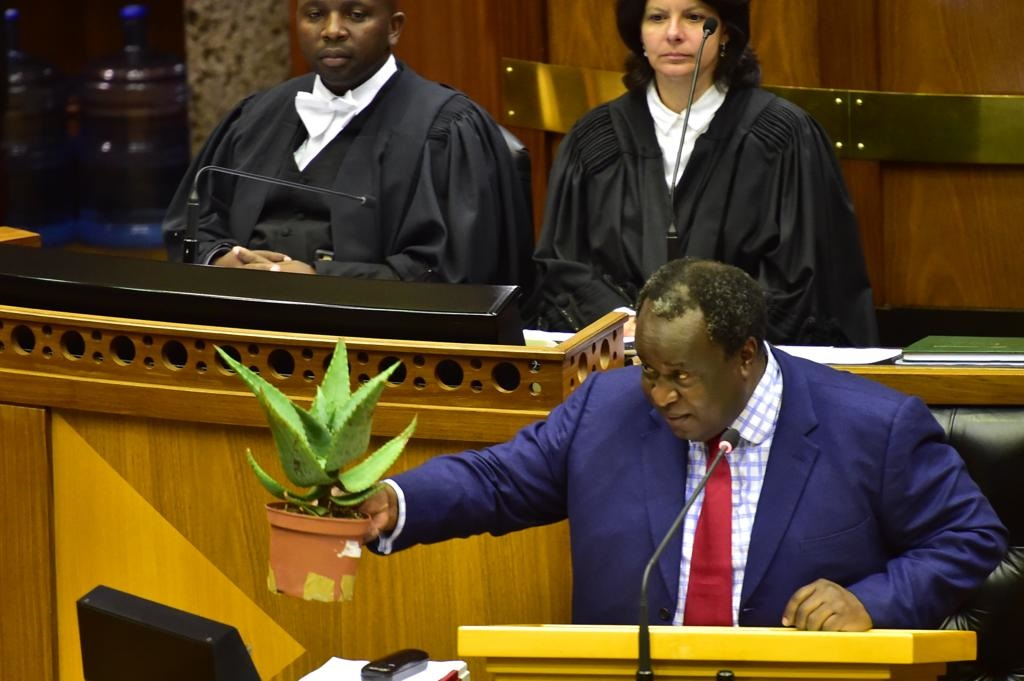 Finance Minister Tito Mboweni delivers his medium-term budget policy statement. Picture: GCIS