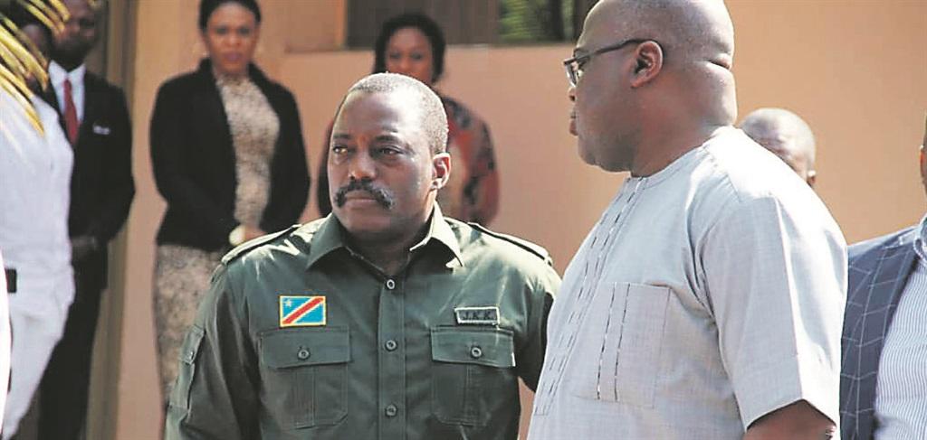 The Democratic Republic of Congo's President Felix Tshisekedi and former President Joseph KabilaPHOTO: twitter