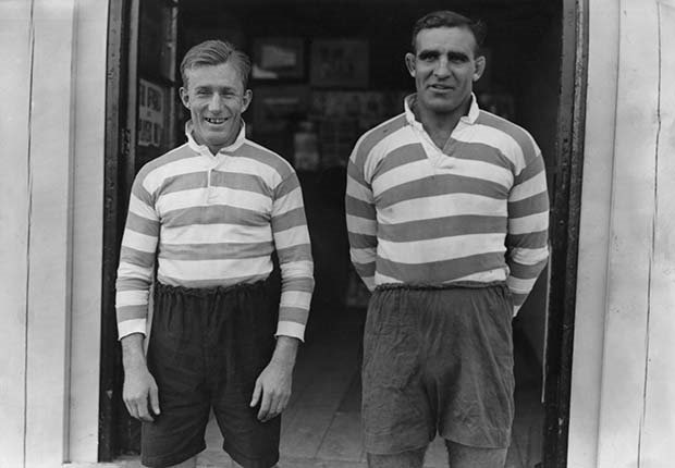 South African rugby players Bennie Osler (1901 - 1