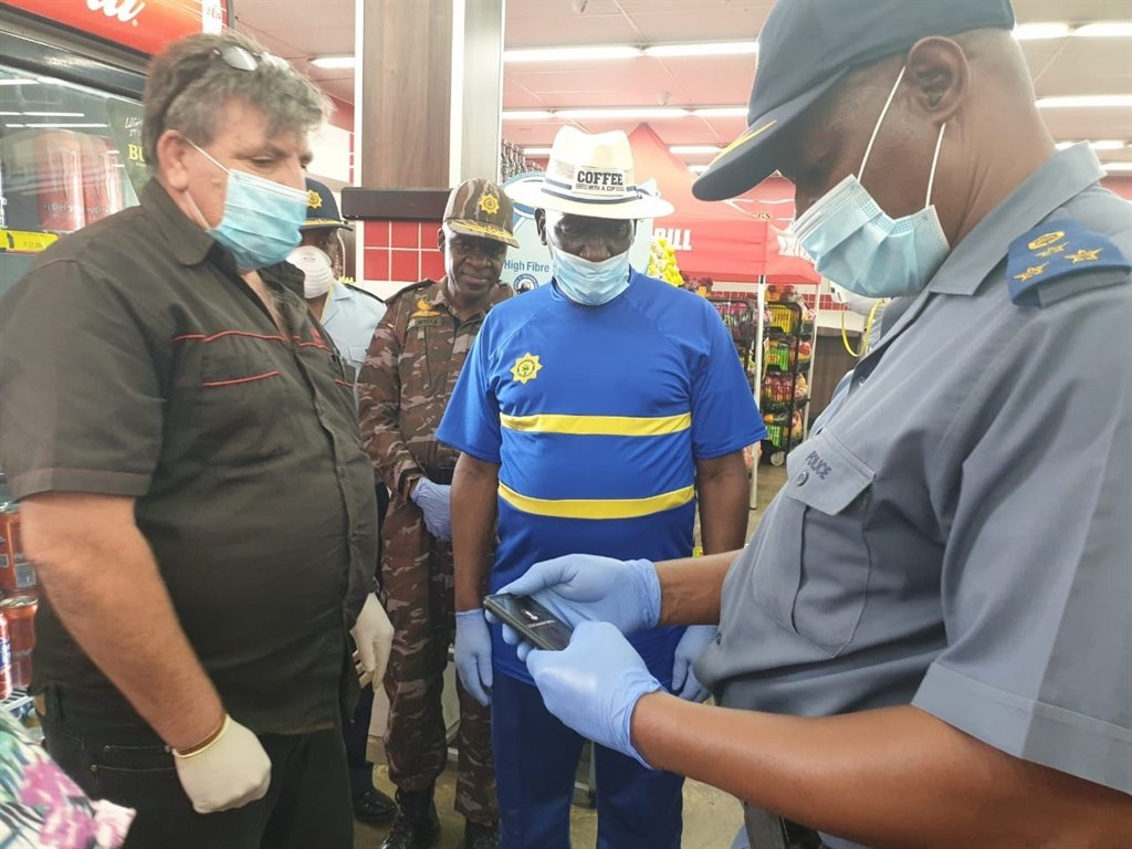Police Minister Bheki Cele in North West. Picture: Twitter