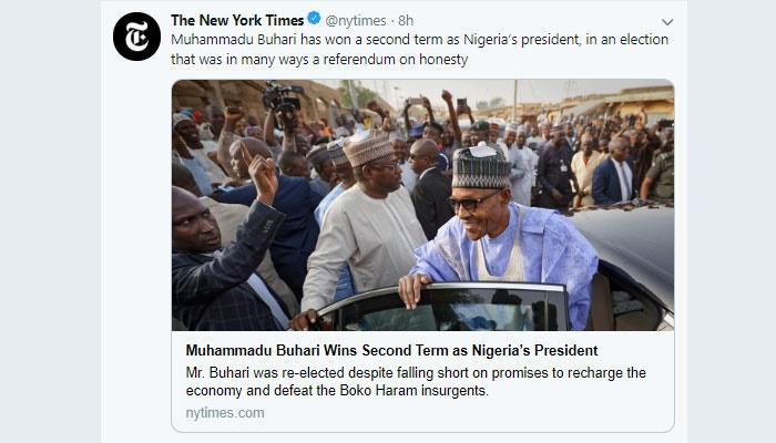 New York Times describes Nigeria election as a ref