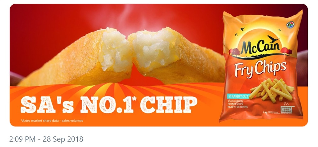 McCain chip advert