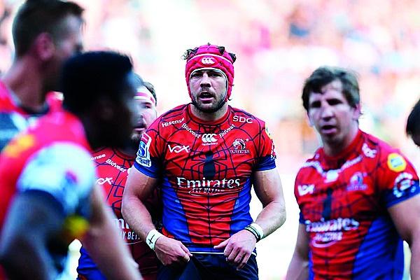 Rugbyspan: 'Die Lions (met Warren Whiteley, foto),
