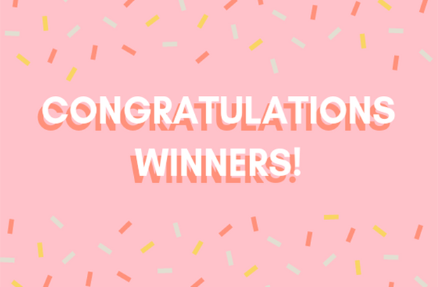 Congratulations to our lucky winners!