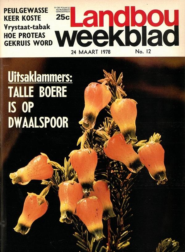 So het die Landbouweekblad van 24 Maart 1978 se voorblad gelyk.