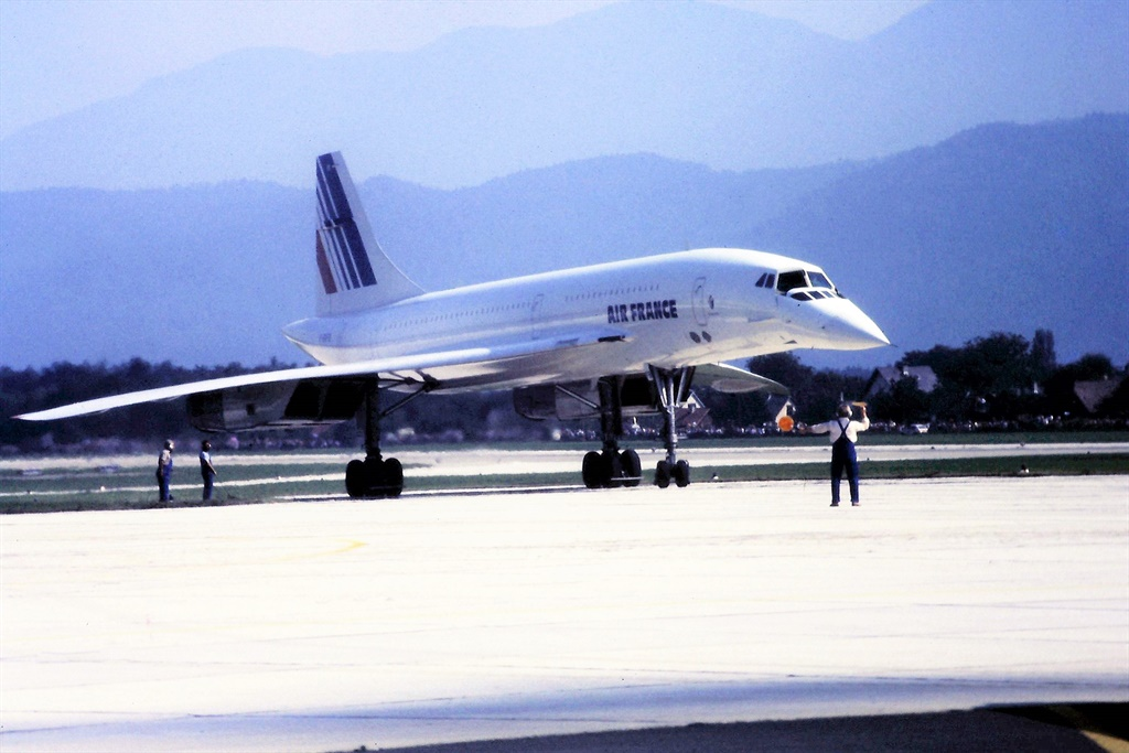 a rare visit of an Air France Concorde to the prov