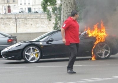 A Disturbing Regular Site Worldwide U2013 Ferrariu0027s 458 Italia Burning, This  Time In Paris. Is There A Fundamental Engineering Fault To Blame Or  Careless, ...