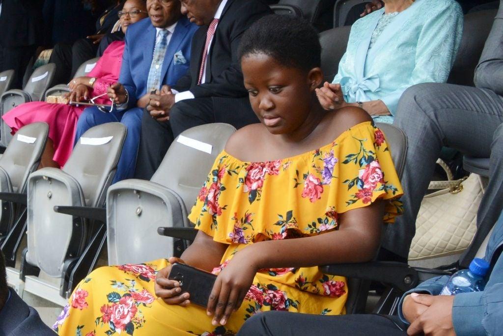 A 13-year-old Masalanabo Modjadji during the Motsepe Foundation national day of prayer on 25 November 2018 in Johannesburg.