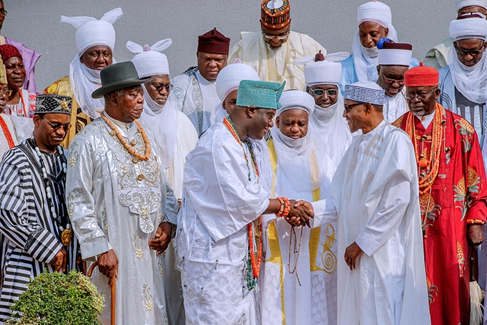 Muhammadu Buhari meets with traditional leaders