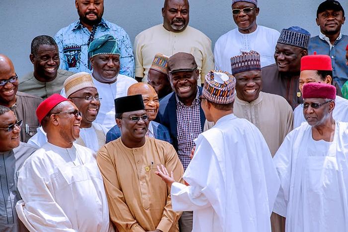 Muhammadu Buhari meets with labour union leaders i