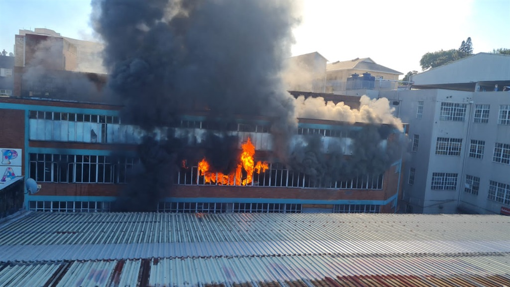A fire broke out at a factory in Durban on Monday.
