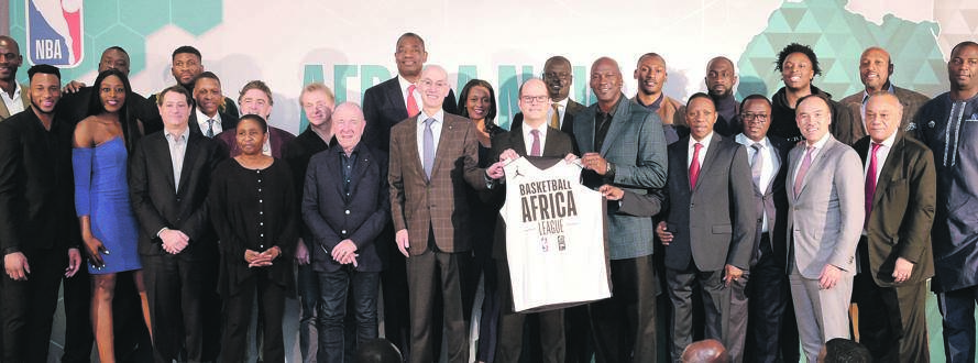 Basketball legend Michael Jordan (fifth from the right) is among those who endorsed the plan to launch the Basketball Africa League