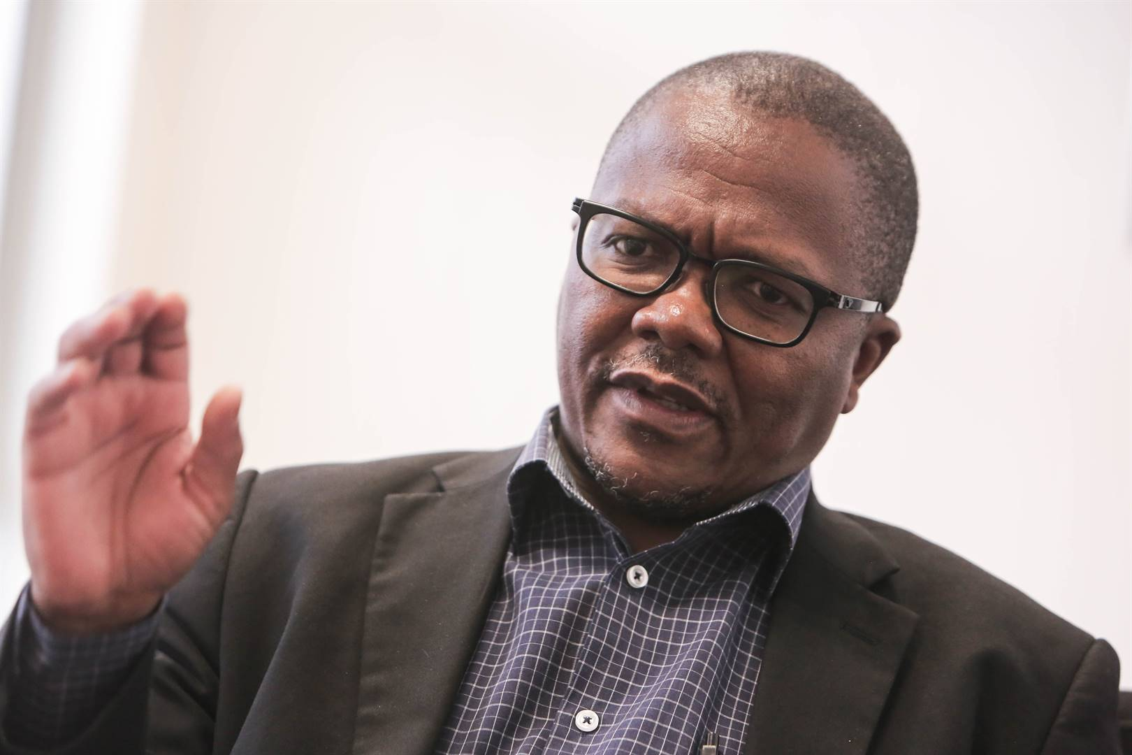 University of Fort Hare Vice Chancellor, Professor Sakhela Buhlungu during an interview on March 24, 2018 in East London, South Africa. Buhlungu's attempts to root out corruption and maladministration at the institution have landed him with 24-hour security. Picture: Alaister Russell / Gallo Images / Sunday Times