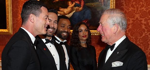 Actor Luke Evans meets Prince Charles