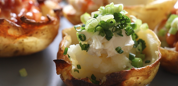 Easy stuffed potato skins