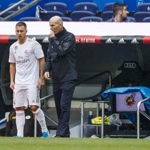Eden Hazard and Zinedine Zidane (Getty Images)