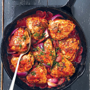 DELISH CHICKEN AND CHORIZO WITH TOMATOES