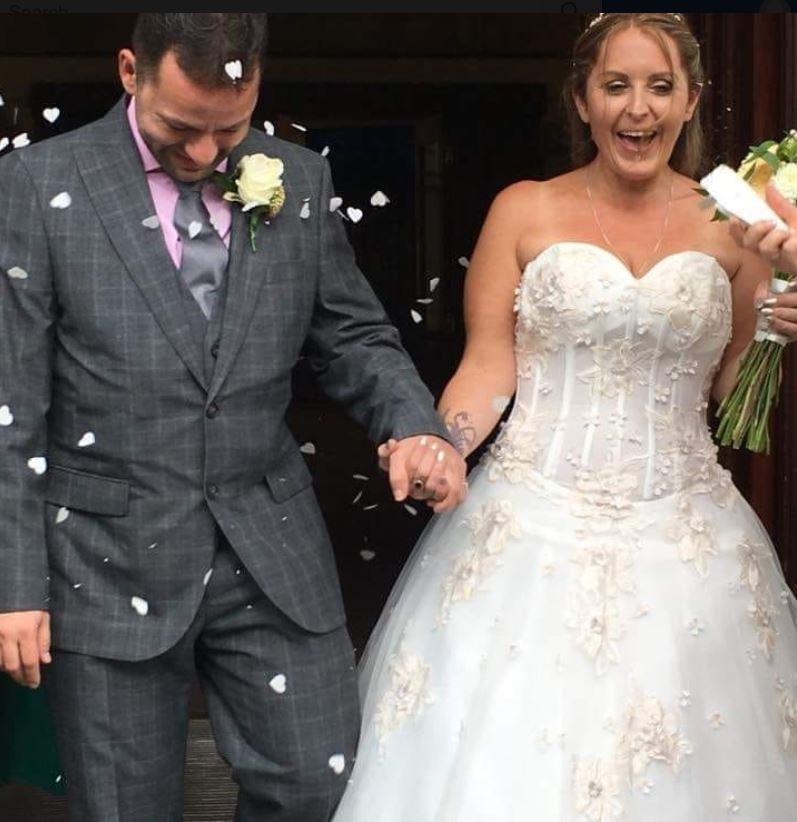 Jason and Nicola Spencer on their wedding day. Pho