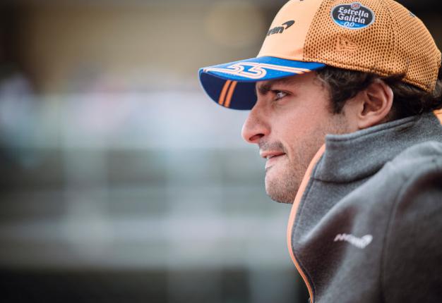 Spanish driver, Carlos Sainz. (Photo by Jure Makovec/SOPA Images/LightRocket via Getty Images)