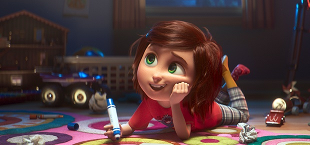 June, voiced by Sofia Mali, in a scene from the an