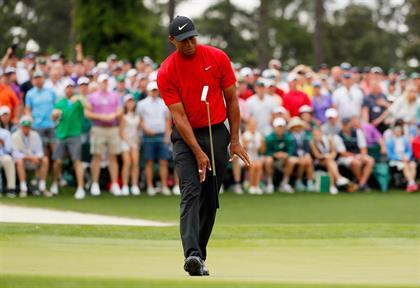 AUGUSTA, GEORGIA - APRIL 14: Tiger Woods of the Un