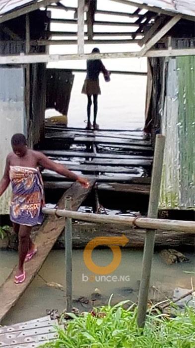 Toilet in Ogu community in Epie community