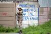 SANDF troops patrolling in Hanover Park.