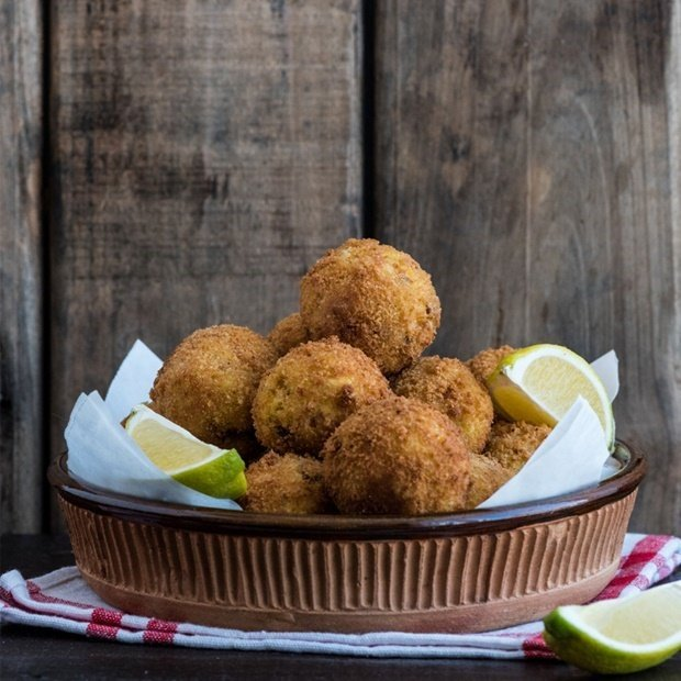 Fried risotto balls