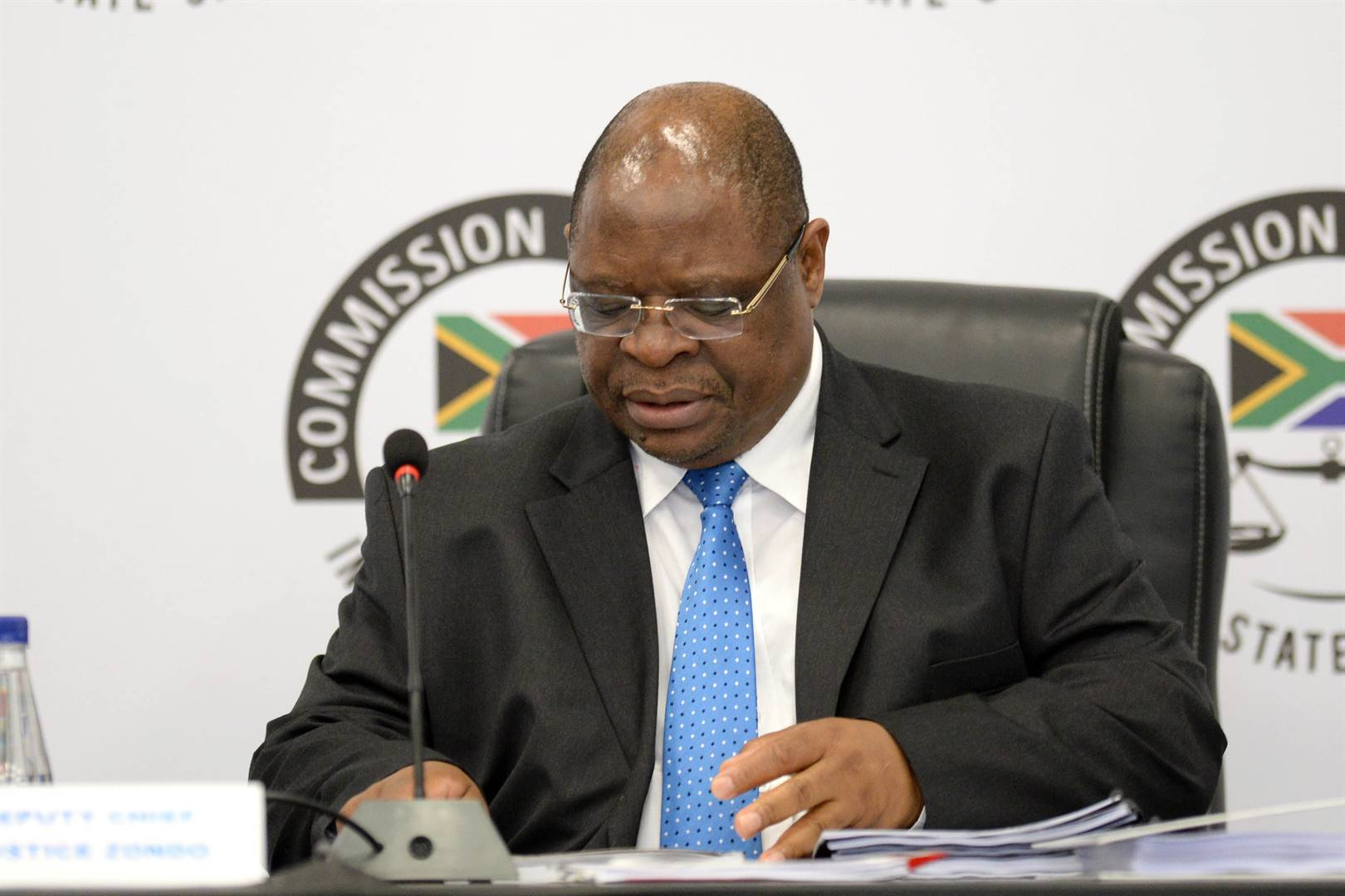 Deputy Chief Justice Raymond Zondo at the judicial commission of inquiry into state capture.