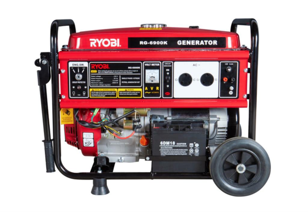 A Ryobi 5.5 kVa generator (supplied)
