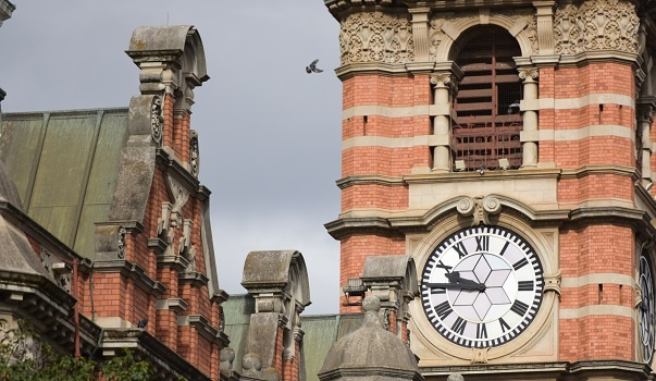 City Hallâ??s Clock tower keeps ticking. The Msunduzi municipality has managed to keep ahead of the problem the pigeons keep dropping. Photo. Jonathan Burton8BIM