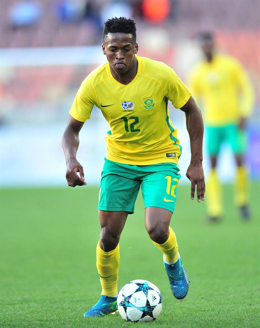 WINNER Luther Singh was in the team that beat Angola 3-1 in a 2020 Tokyo Olympic Games qualifier in Luanda on Friday. Picture: Samuel Shivambu / BackpagePix