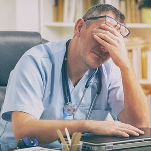 stressed overworked doctors specialists